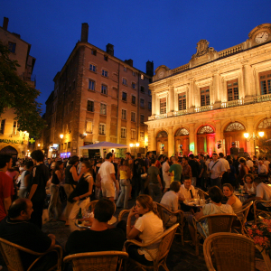 Place du Change dans le Vieux-Lyon © Marie Perrin