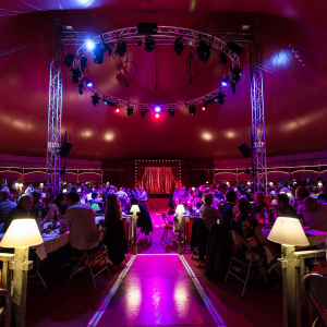 the baroque-style big top of Imagine Circus © Marion Triverio Photographie
